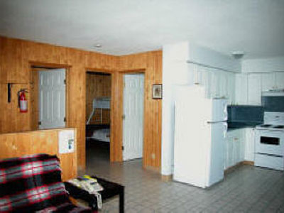 Inside the cottages at Birch Bay Resort on Francois Lake, BC