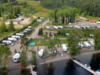 Birch Bay Campground on Francois Lake, BC