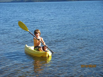 The water fun is great for all ages at Birch Bay Resort on Francois Lake, BC