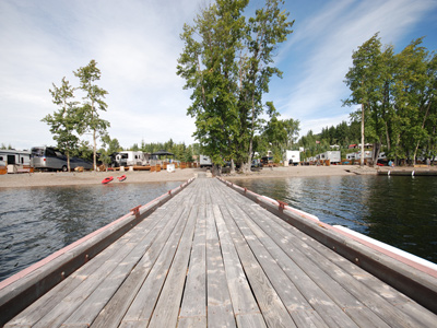 Beachfront Campsites at Birch Bay Resort on Francois Lake, BC