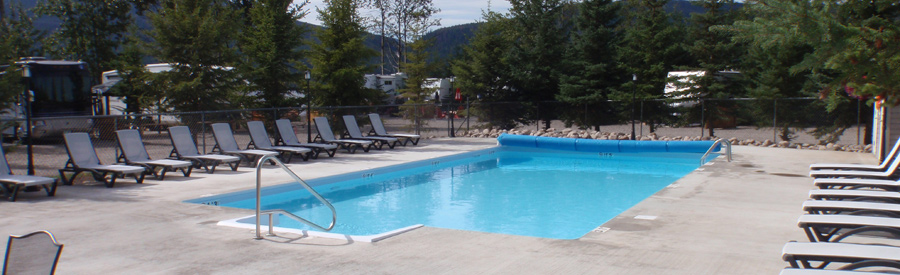 Pool at Birch Bay Resort on Francois Lake, BC